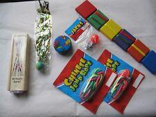 7-Pack Classic Kids Game Toys Chinese Ropes Jacks Pick-Up-Sticks Jacob's Ladder