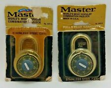 (2) Vintage Master Lock Combination Locks (1503-D) Made in USA - New Old Stock