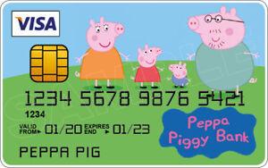 Peppa Pig Novelty Plastic Credit Card