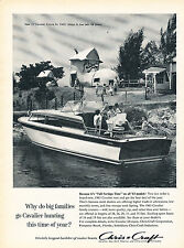 1963 Chris Craft Cavalier Boat - Vintage Advertisement Print Ad J380