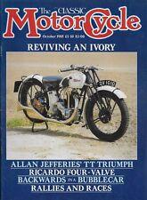 THE CLASSIC MOTORCYCLE MAGAZINE - OCTOBER 1985 - 1929 350cc IVORY CALTHORPE [R]