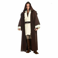 Deluxe STAR WARS Men's OBI WAN KENOBI Return of Jedi FULL Cosplay Costume XS-XL