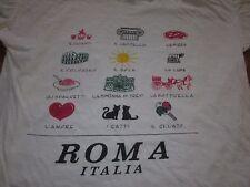 ROMA ITALIA VINTAGE 80S TEE SHIRT ROME FITS LIKE LARGE