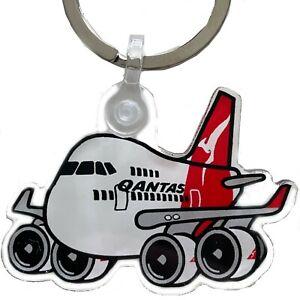 Qantas Boeing 747 Pudgy Keychain