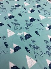 Dashwood Jilly P 'Laska' Christmas Trees Cotton Festive Fabric Remnant Crafts