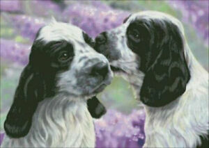 LISA PARKER DON'T TELL THE OTHERS - 3D COCKER SPANIEL DOG PICTURE  400mm X 300mm