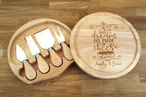 Personalised Engraved Chopping Cheese Board Gift Set - CUSTOM RESERVED