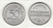 A SAISIR 50 REICH PFENNIG 1920 brillant frappe monnaie alu