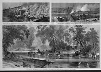 CIVIL WAR 1864 HISTORY THE CAMPAIGN IN VIRGINIA PONTOONS ON NORTH ANNA RIVER