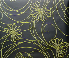 Ashford House Gold Floral on Black wallpaper Double Roll