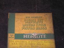 VINTAGE BSA A7 STAR 500 TWIN 1947-1951 HEPOLITE PISTON RING SET NOS