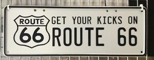 Route 66 Number Plate - NOVELTY GIFT Pool Room, Man Cave Music Room