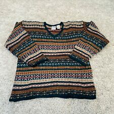 VINTAGE Hasting & Smith Womens Knitted Jumper Small Multicolour Wool Pullover