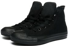 e69b49fd9161 Converse Hi Top All Star Chuck Taylor Black Mono Mens Womens Shoes All Sizes