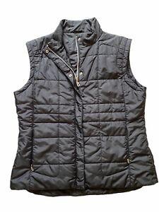 Bogner Black Puffer Vest Women's Size US10/ EUR 44
