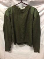 US Military Mens Green Crewneck Sweater Sz 42 VINTAGE