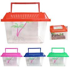Aquarium Starter Kit Fish Tank 0.3 Gallon Carrier Reptile Turtle Frog Terrarium