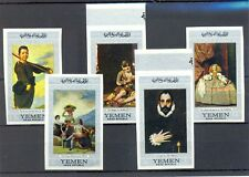 YEMEN - 5 STAMPS IMPERFORATED -FAMOUS PAINTERS --** MNH --- VF - @1