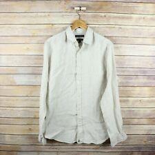 BANANA REPUBLIC Men's Camden Standard Fit Linen Long Sleeve Button Front TALL M