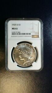 1925 S Peace Silver Dollar NGC MS61 UNCIRCULATED $1 Coin BUY IT NOW!