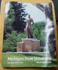 MSU Michigan State University Student Directory November 1989 Book