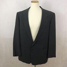 Giorgio Armani Mani Men's Pinstripe Blazer Coat Jacket - 43R - Gray/White