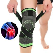 AU 3D Weaving Brace Arthritis Knee Support Breathable Sleeve Running Jogging CG