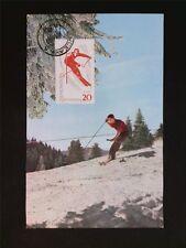 Romania Mk 1964 Sport Ski Slalom maximum tarjeta Carte maximum card mc cm c7081