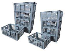 10 x Brotkiste Obst- Gemüsebox Lagerkiste Transportbox Gitterbox grau 23cm Höhe