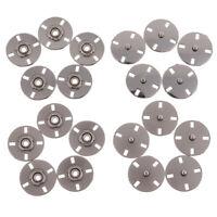 5 Set Bottoni A Pressione in Metallo Automatici Bottoni Per Cucire Bottoni Per
