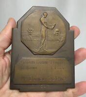 Belgium 1947 Mauquoy Literary Bronze Plaque Medal - 81345