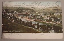 1906 POSTCARD OF BIRDS EYE VIEW OF MONTPELIER VERMONT  TO NEW YORK CITY