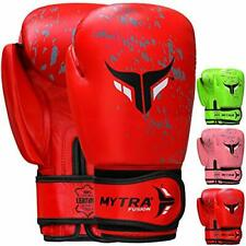 Mytra Fusion Boxing Gloves RAGE Series Real Leather Training Sparring Bag Gloves