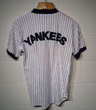 Vintage Nutmeg Mills New York Yankees Pinstripe  Baseball Jersey Sz Large