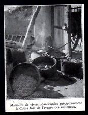 1936  --  GUERRE D ESPAGNE  MARMITES ABANDONNEES A CUBAS ENTRES NATIONAUX  3M965