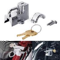 Chrome Universal Helmet Lock For Harley Davidson Dyna Softail Sportster XL VRod
