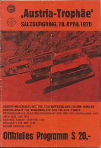 1976 April Salzburgring Program David Hobbs Derek Bell Dolomite Triumph FIA F1