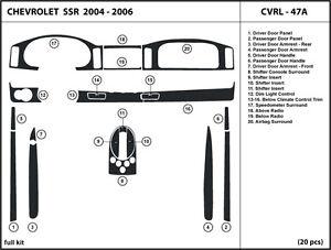 Dash Trim Kit Set for Chevrolet SSR 2003-2006 Interior Overlay Dashboard