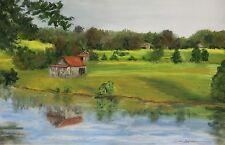 Jones Barns (10.5 x 15.5) -- Giclee Print by Shelley Koopmann