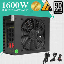 1600W Fully Modular ATX Power Supply For ETH Bitcoin Antminer A7 S7 S9 L3+ APW3