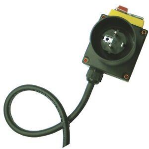 230V 16A CEE Schalter-Steckdoseneinheit Haushaltsstrom Schutzschaltung *NEU*