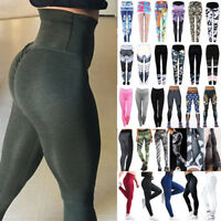 Womens Workout Leggings Yoga Gym Jogging Fitness Sports Training Pants Trousers