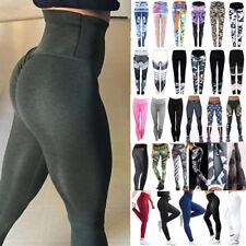 Damen Yoga Hosen Fitness Gym Hohe Taille Leggings Jogginghose Lang Laufhose