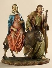 "La Posada 10""H Statue of Joseph and Mary with Child  by Joseph's Studio"