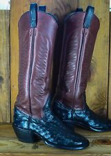 Very Tall Full Quill Ostrich Size 8.5 E Men Custom Handmade Exotic Cowboy Boots