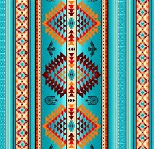 Tucson Southwest Aztec Dream Catcher Eagle Turquoise Cotton Fabric by the Yard