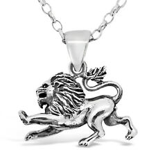 "Leo Sterling Silver Star Sign - The Lion Zodiac Pendant with 18"" Chain & Box"