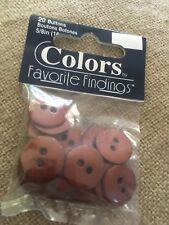 Pack 20 boutons marron parfait pour bouton Craft