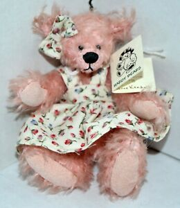 """Hardy Bears """"Alice"""" By June Kendall - One of a Kind! 3 3/4"""" Pink Bear"""
