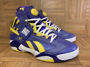 RARE🔥 Reebok The Pump Shaq Attaq Sz 13 Purple Tiger Sneakers Lakers LSU M40343